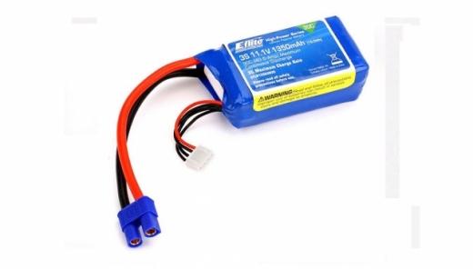 E-flite 3S 11,1V 1350mAh 30C LiPo-Akku m. EC3-Stecker