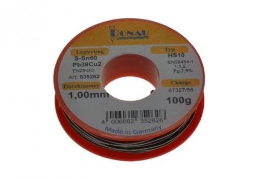 Lötzinn Ø 1 mm, Spule 100 g