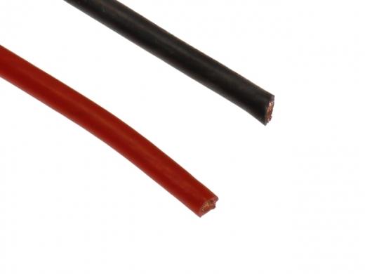 Silikonkabel 2,5qmm 1Meter rot und schwarz