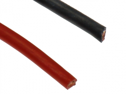 Silikonkabel 4qmm 1Meter rot und schwarz
