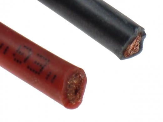 Silikonkabel 6qmm 1Meter rot und schwarz