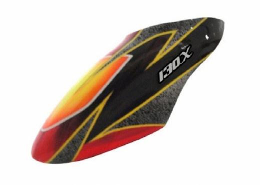 Fusuno Infinite Fire Airbrush Fiberglas Haube für Blade 130X