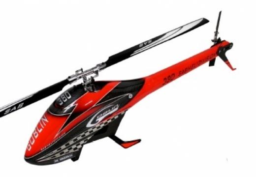 Goblin 380 rot/schwarz Carbon mit Rotorblätter