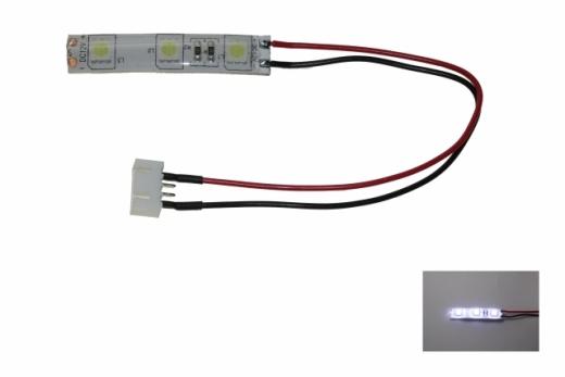 LED Rücklicht für FPV Racer mit 5mm LED spritzwassergeschützt in weiß