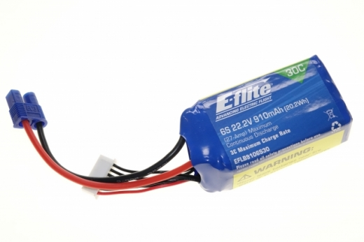 E-Flite 22.2v 910mAh li-po battery