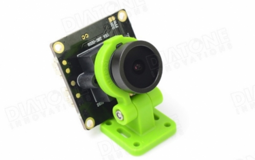 Diatone FPV Kamera 700TVL 120° mini FPV Cam mit grüner schwenkbarer Halterung