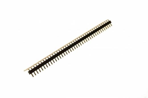 Stiftleiste gebogen 2,54mm, 40 Pins, 1 reihig