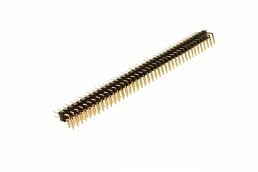 Stiftleiste gebogen 2,54mm, 40 Pins, 2 reihig