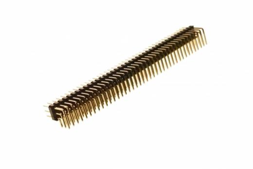 Stiftleiste gebogen 2,54mm, 40 Pins, 3 reihig