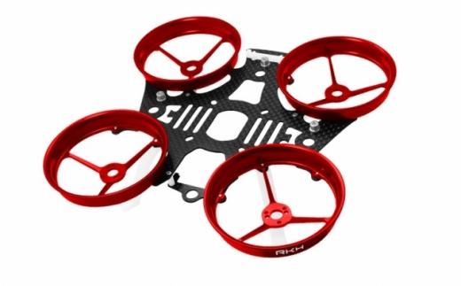 Rakonheli Tuning Rahmen aus carbon in rot für Blade Inductrix 200