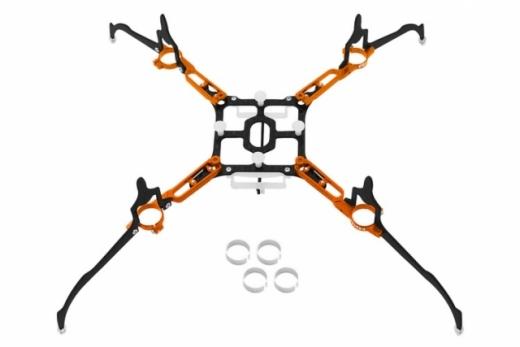 Rakonheli Tuning Rahmen aus carbon in orange für Blade Nano QX2 und Glimpse