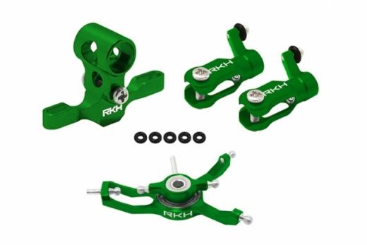 Rakonheli Hauptrotorkopf Set in grün für Blade Nano CPX/CPS/S2