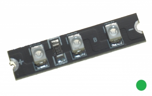LED Board mit 3 SMD Led´s 3-4S in grün