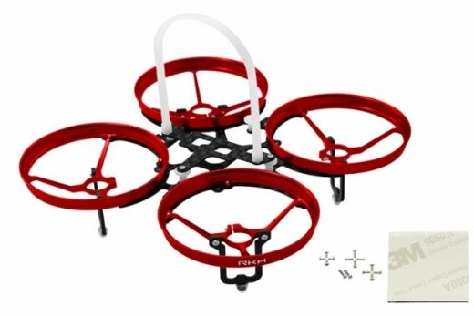 Rakonheli 7 mm Motoren Tuning Rahmen aus carbon in rot für Blade Inductrix
