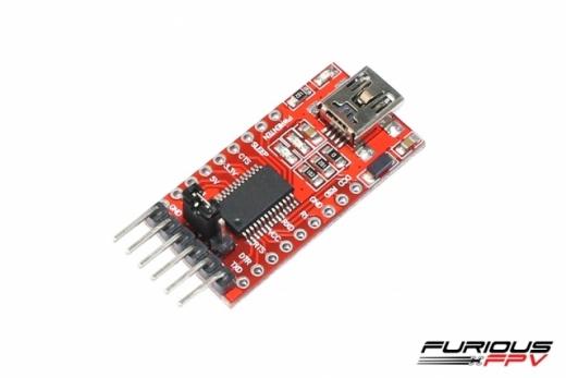 Furious FPV FTDI USB Adpapter 1232 für das True-D Empfänger Modul