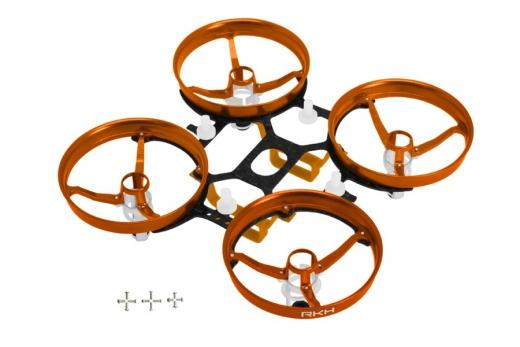 Rakonheli Tuning Rahmen aus carbon in orange für Blade Inductrix FPV PRO