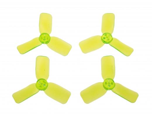 3 Blatt Propeller 2030 in transparentem grün 4 Stück (2xCW 2x CCW für 1,5mm Welle)