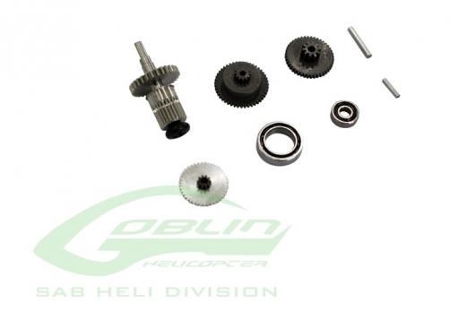Servo Getriebe für Taumelscheiben Servo DS12C für Goblin Fireball