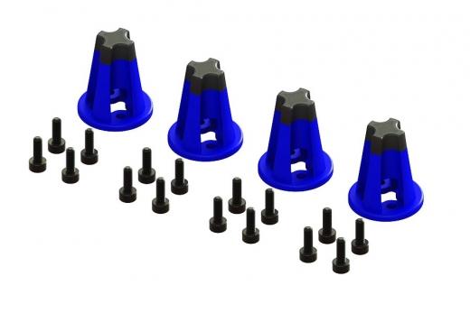 Lynx Motor Dämpfer in blau/schwarz für den original Rahmen LX2601 vom Blade Torrent 110 FPV
