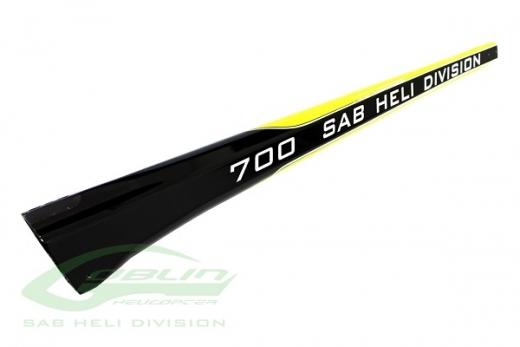 Heckrohr schwarz/gelb für Goblin 700 Black Thunder Sport