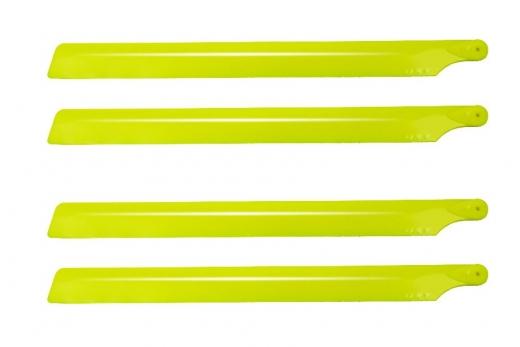 Hauptrotorblätter 190mm aus Kunststoff in gelb 2 Paar für OXY2
