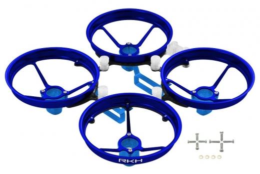 Rakonheli Tuning Rahmen aus carbon in blau für Blade Inductrix FPV+