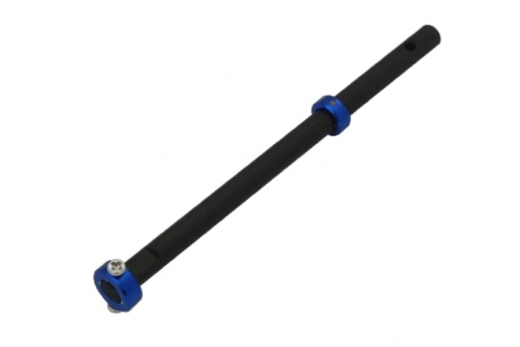 Rakonheli Hauptrotorwelle aus Carbon mit Alu Stellring in blau für T-REX 150