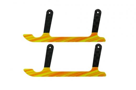 Rakonheli Landekufen aus Carbon für Rakonheli Landegestell schwarz gelb für T-REX 150