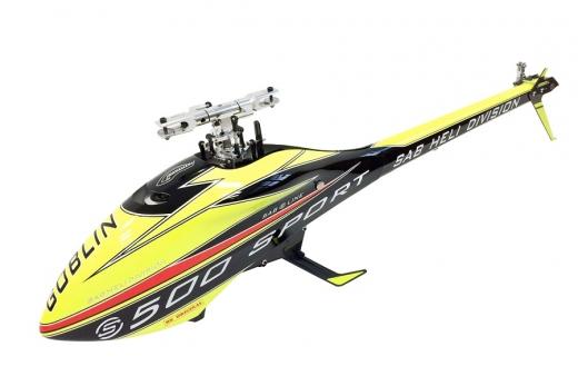Goblin 500 Sport S Line gelb/schwarz ohne Rotorblätter