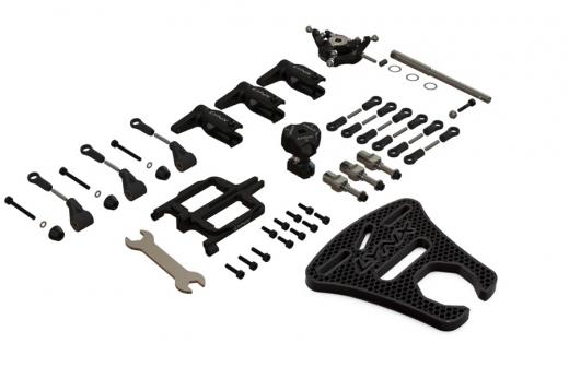 Lynx Dreiblattkopf Set aus Aluminium in schwarz für Goblin Fireball