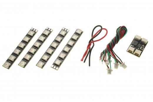 FPV Racer LED Beleuchtungs-Set mit WS2812 LED´s mit voll ansteuerbares Farbspektrum und Mustern