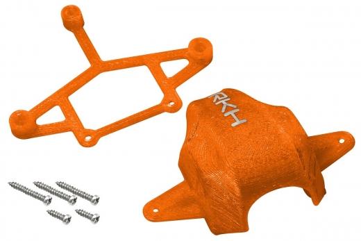 Rakonheli Haube und Kamerahalterung mit 20° Neigungswinkel in orange für Blade Inductrix FPV Brushless