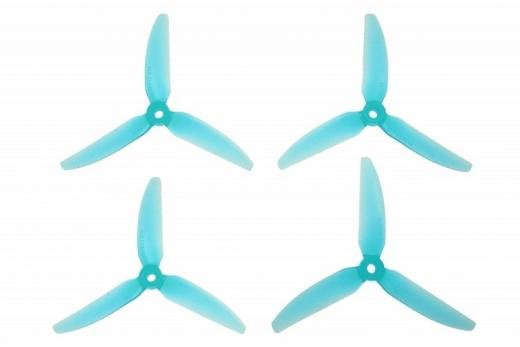 HQ Durable Prop Propeller POPO 5,1x4,1x3 aus Poly Carbonate in blau transparent je 2CW+2CCW