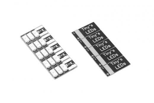 Tiny's Leds 3-6S mit 3 LED´s 5 Stück in weiß