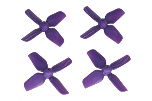 HQ Micro Whoop Vierblatt Propeller 1,2x1,2x4 (31mm) je 2 Stück CW und CCW für 0,8mm Welle in violette