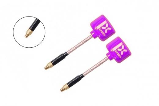 Foxeer Lollipop 2 FPV Antennen Set AXII RHCP mit geraden MMCX Anschluss in violette 2 Stück
