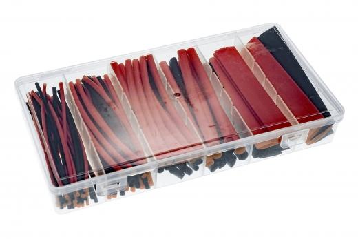 Schrumpfschlauchsortiment 2:1 in einer praktischen PVC-Box Länge 10cm 100 Stück
