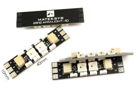Matek Motoranschlussleiterbahn mit WS2812 LED Streifen mit 10 LED´s 4 Stück