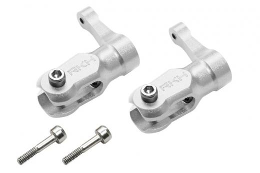 Rakonheli Hauptblatthalter Set CNC Aluminium silber für Blade Fusion 180