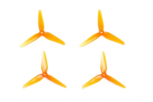 HQ Prop Propeller R42 5,1X4,2X3 aus Poly Carbonate in orange transparent je 2CW+2CCW