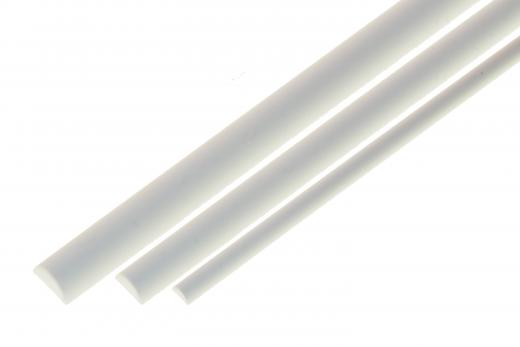 Kunststoffstab halbrund aus ASA Ø6,0mm weiß 1 Meter