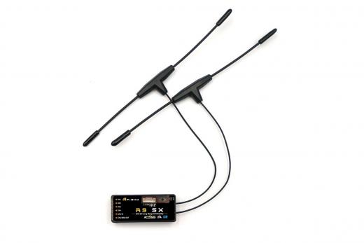 FrSky Taranis 868 MHz Empfänger R9SX OTA Access und T-Dipolantenne