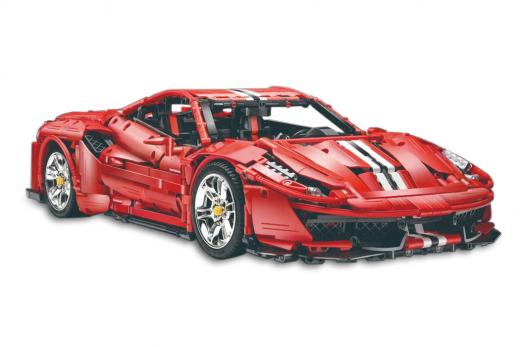 Cada Klemmbausteine - MASTER Red Super Car 1:8 - 3187 Teile