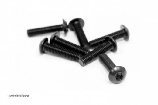 Linsenkopfschrauben M2,5x18 10 Stück