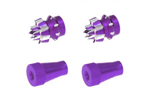 Steuerknüppelendstück / Gimbal Stick End / Typ C in violet mit M3 Gewinde 2 Stück