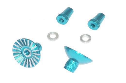 Steuerknüppelendstück / Gimbal Stick End / Typ E in hell blau mit M3 Gewinde 2 Stück