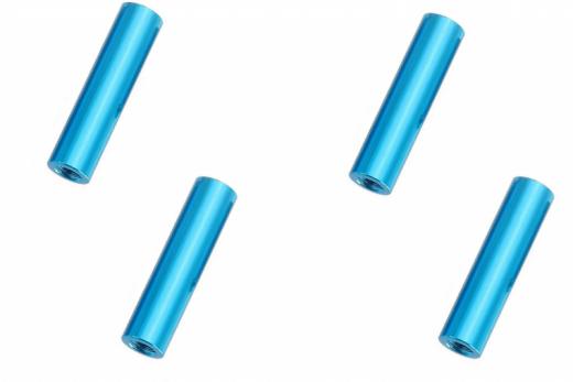 Abstandshalter / Spacer / Standoff M3 Aluminium eloxiert glatt in türkis 4Stück 30mm