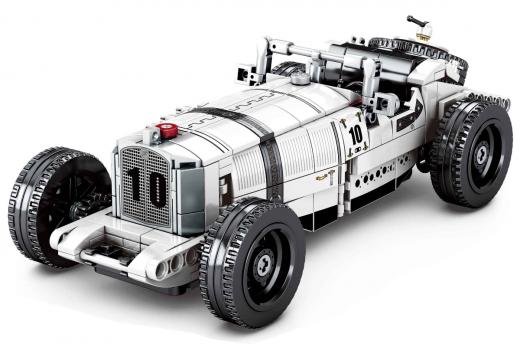 Sembo Kelmmbausteine Oldtimer Cabrio in weiß - 492 Teile