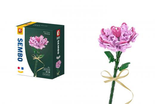 Sembo Klemmbausteine Blumen - Nelke in rosa