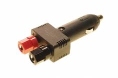 Adapter für Zigarettenanzünder im Auto auf 4mm Buchsen, mit Kabel